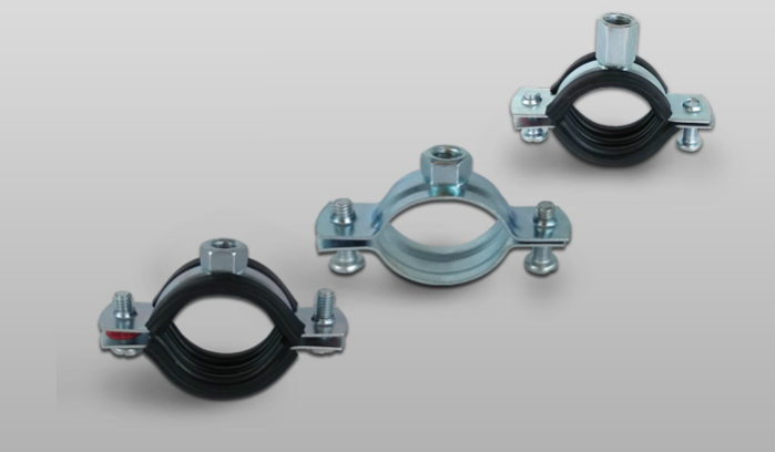 Pipe Clamps with Nut, with or without Rubber & Pipe Clamps